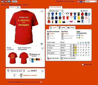 Créez vos t-shirts avec Shirtcity et ZhongArt