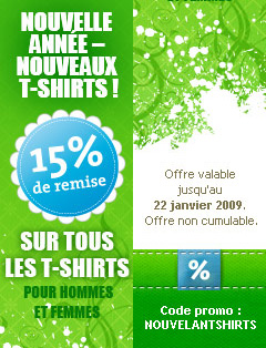 La promo Spreadshirt de Nouvel An.