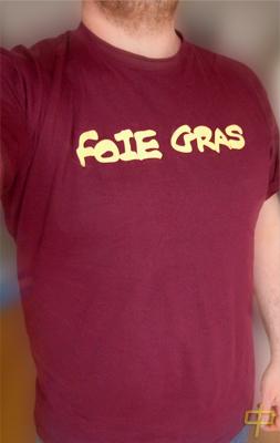 foie gras sur t-shirt