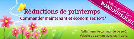 Coupon réduction du printemps